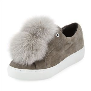 Here/Now • Fur PomPom Sneakers
